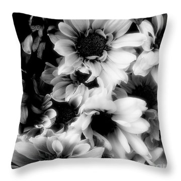 Black And White Throw Pillow by Kathleen Struckle