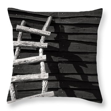 Black And White Ladder Throw Pillow