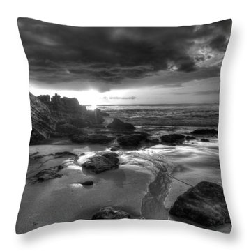 Black And White Laguna Beach Throw Pillow