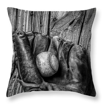 Black And White Mitt Throw Pillow by Garry Gay