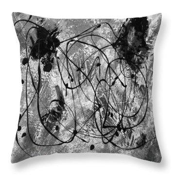 Black And White Throw Pillow by Nancy Merkle