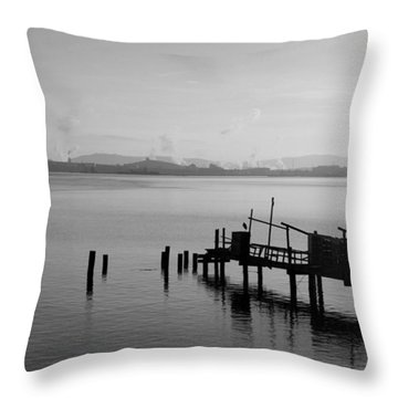 Black And White Oakland Bay Throw Pillow