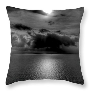 Black And White Of The Med Throw Pillow