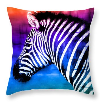 Throw Pillow featuring the photograph Black And White Or Color? by Elizabeth Budd