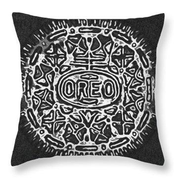 Black And White Oreo Throw Pillow