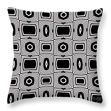 Black And White Pattern By Saribelle Rodriguez Throw Pillow by Saribelle Rodriguez