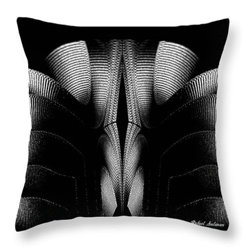 Throw Pillow featuring the mixed media Black And White by Rafael Salazar
