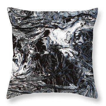 Black And White Series 3 Throw Pillow
