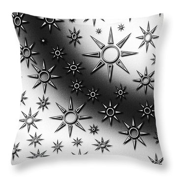 Black And White Suns Throw Pillow by Gaspar Avila