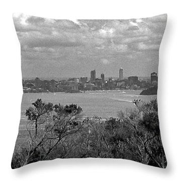 Throw Pillow featuring the photograph Black And White Sydney by Miroslava Jurcik