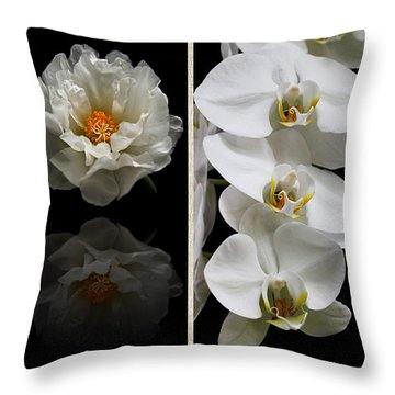 Black And White Triptych Throw Pillow