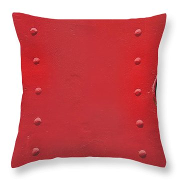 Black And White Windows On Red Throw Pillow