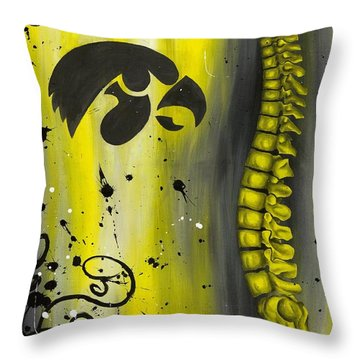 Black And Yellow Throw Pillow by Brent Buss
