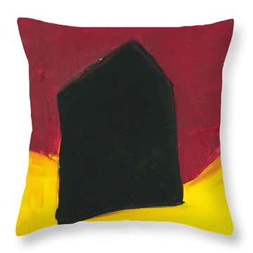 Black Arthouse Throw Pillow