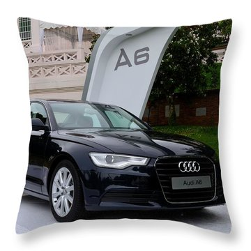 Black Audi A6 Classic Saloon Car Throw Pillow