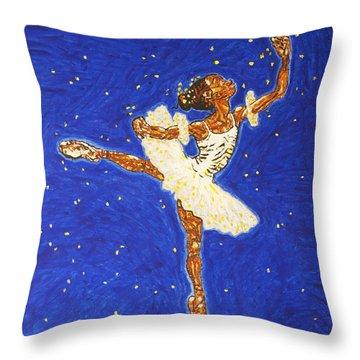 Black Ballerina Throw Pillow by Stormm Bradshaw