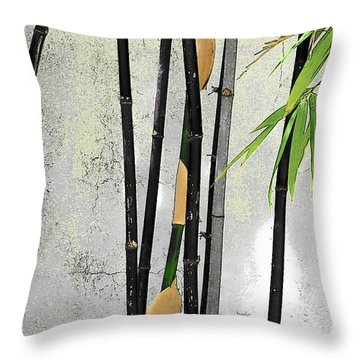 Black Bamboo #2 Sarasota Throw Pillow
