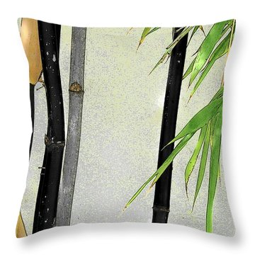 Black Bamboo Sarasota IIi Throw Pillow