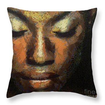 Black Beauty Throw Pillow by Dragica  Micki Fortuna