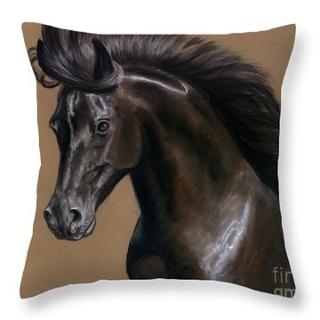 Black Beauty Throw Pillow by Sheri Gordon