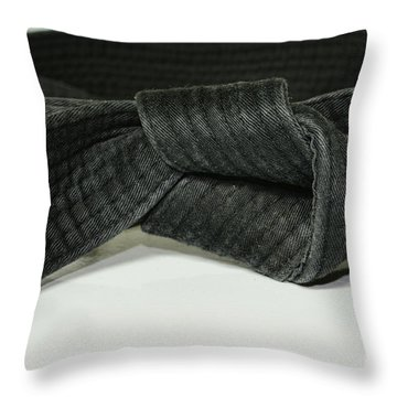 Black Belt Throw Pillow
