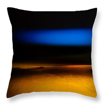 Black Blue Yellow Throw Pillow by Bob Orsillo