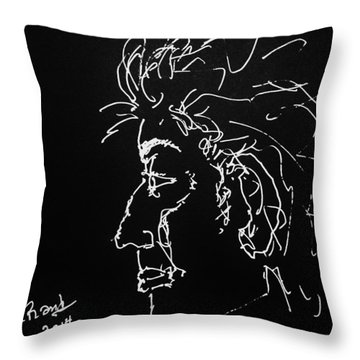 Throw Pillow featuring the drawing Black Book 10 by Rand Swift