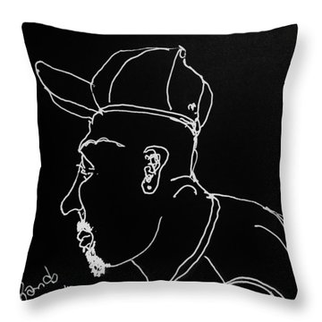 Throw Pillow featuring the drawing Black Book 19 by Rand Swift