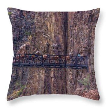 Black Bridge In The Grand Canyon Throw Pillow