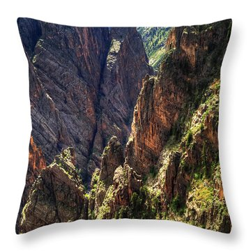 Black Canyon Of The Gunnison National Park I Throw Pillow