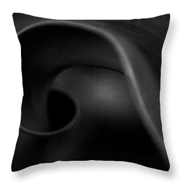 Black Charcoal Throw Pillow by Theresa Tahara