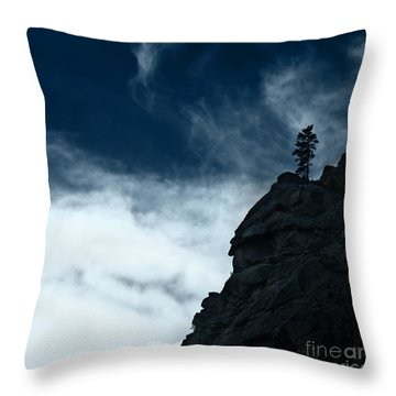 Throw Pillow featuring the photograph Black Cliff by Dana DiPasquale