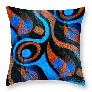 Black Coffee Abstract Throw Pillow