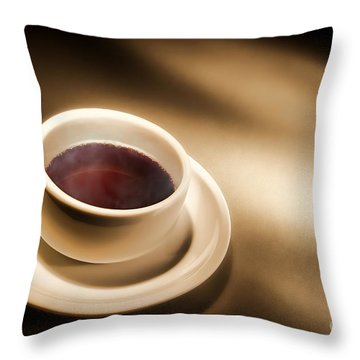 Black Coffee Throw Pillow by Olivier Le Queinec