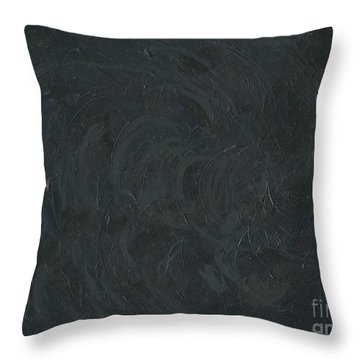 Black Color Of Energy Throw Pillow