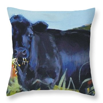 Cows Dartmoor Throw Pillow