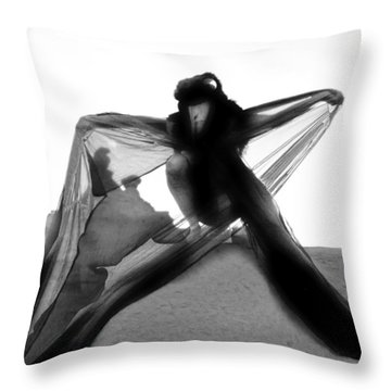 Throw Pillow featuring the photograph Black Crow 1 by Tarey Potter