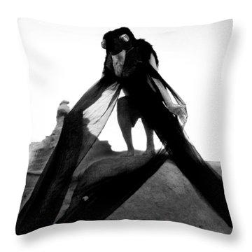 Black Crow 2 Throw Pillow