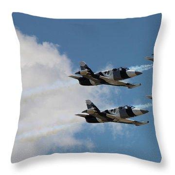 Black Diamond L-39s In Flight Throw Pillow