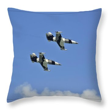 Throw Pillow featuring the photograph Black Diamonds In The Sky by DigiArt Diaries by Vicky B Fuller