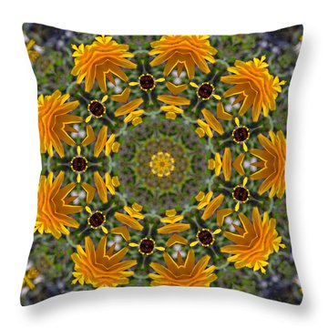 Black Eyed Susan Mandala #1 Throw Pillow