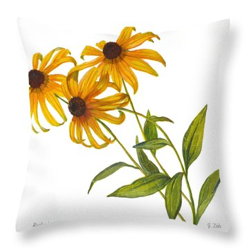 Black Eyed Susan - Rudbeckia Fulgida Throw Pillow