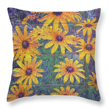 Throw Pillow featuring the photograph Black-eyed Susan Squared by Brooks Garten Hauschild