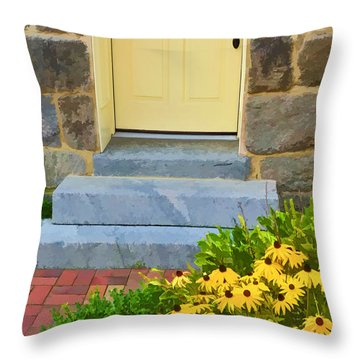 Throw Pillow featuring the photograph Black-eyed Susans by Dana Sohr