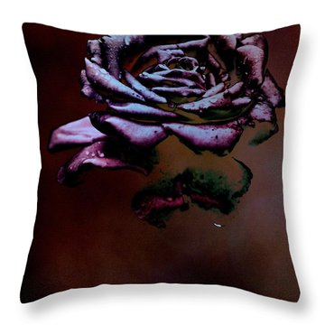 Black Fog Throw Pillow