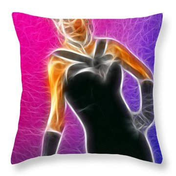 Black Formal Fractal Throw Pillow by Gary Gingrich Galleries