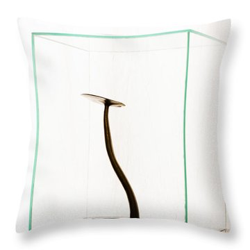 Black Gold Lily Throw Pillow by Yevgeni Kacnelson