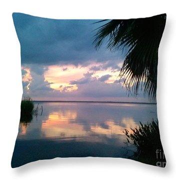 Black Hammock Sunset 3 Throw Pillow