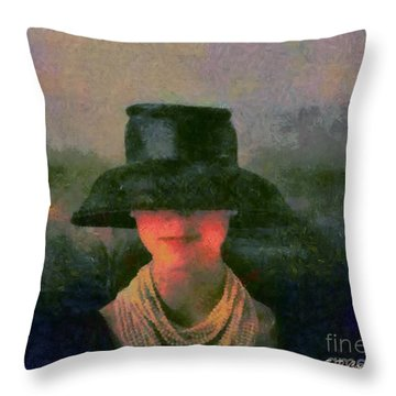 Black Hat Throw Pillow