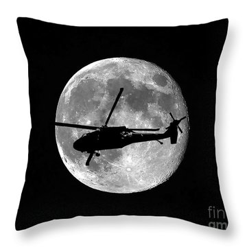 Black Hawk Moon Throw Pillow